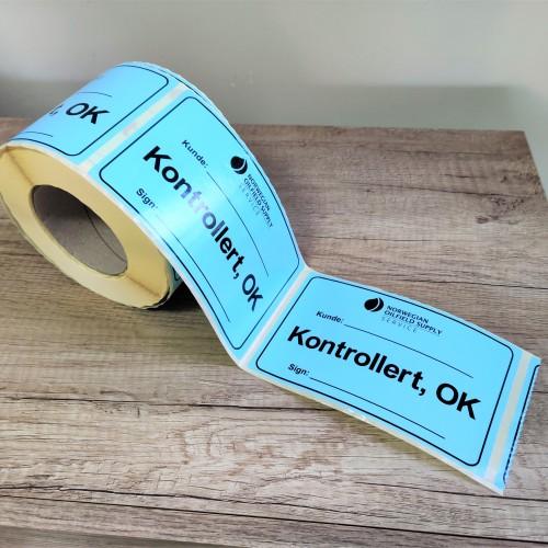 NORWEGIAN OILFIELD SUPPLY stickers on roll