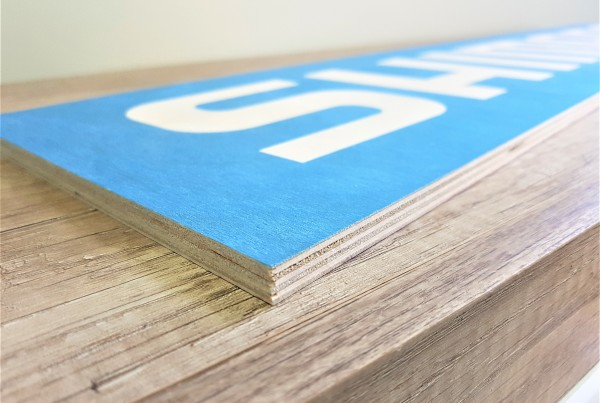 8 mm plywood, direct UV print, size: 1000 x 200 mm