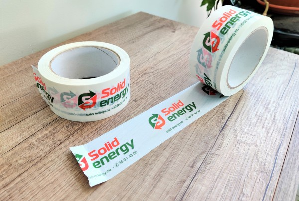Solid Energy packaging tape