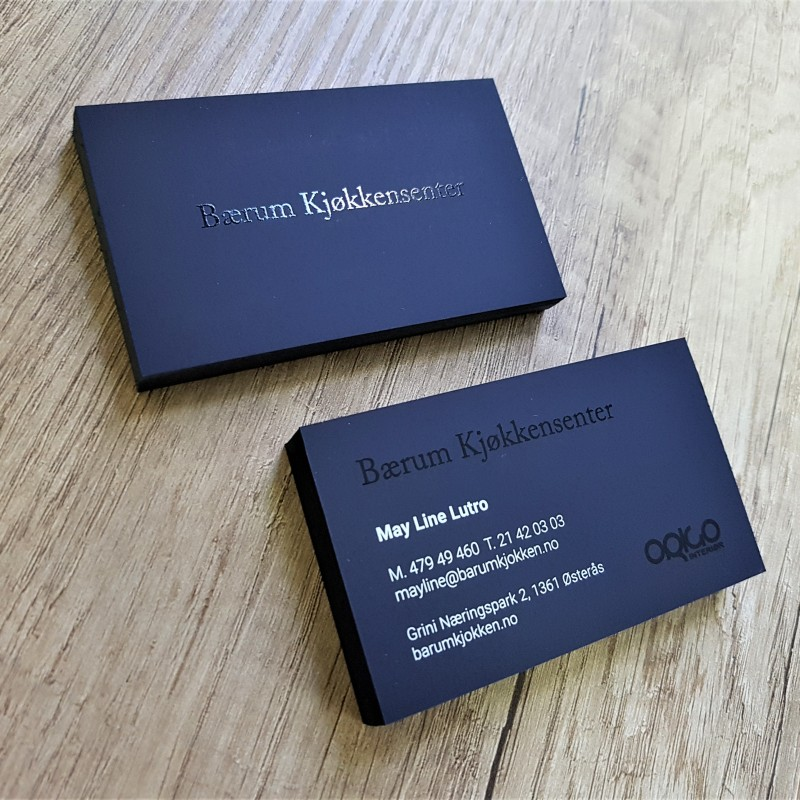Barum Kjokken business cards