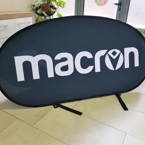 MACRON feather banner