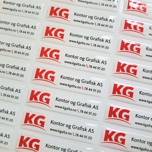 KG doming stickers