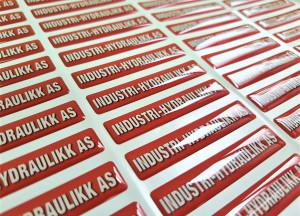 Industri-hydraulikk doming stickers