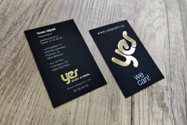 YES profile business cards