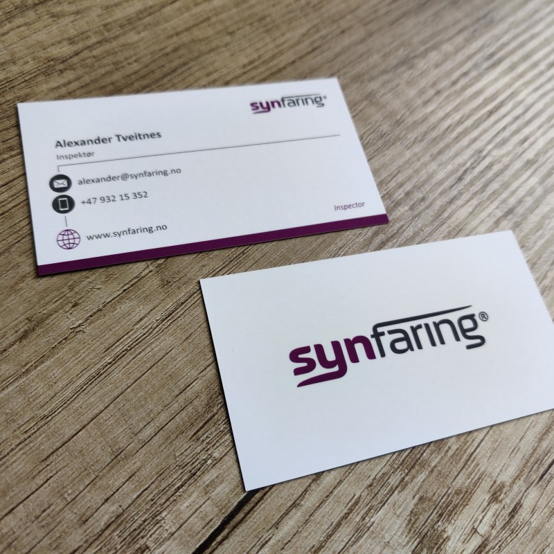 SYNFARING business cards
