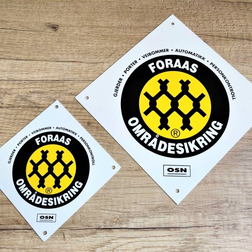 Foraas aluminum signs