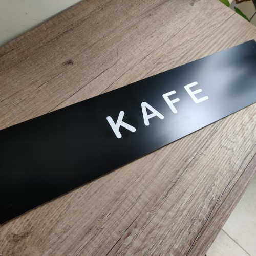 4 mm thickness, Black ACP with white foil